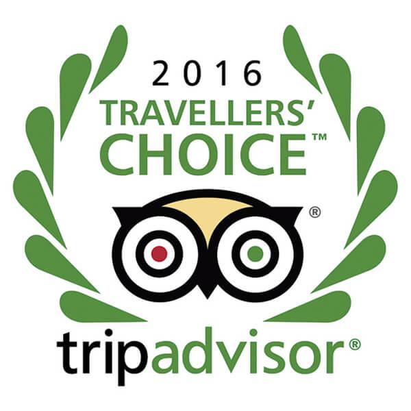 Tripadvisor Travellers Choice 2016